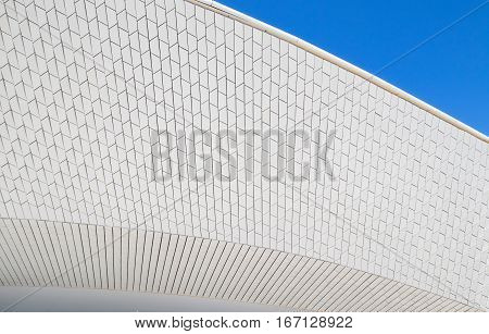 Facade of the new art technologies and architecture museum in Lisbon