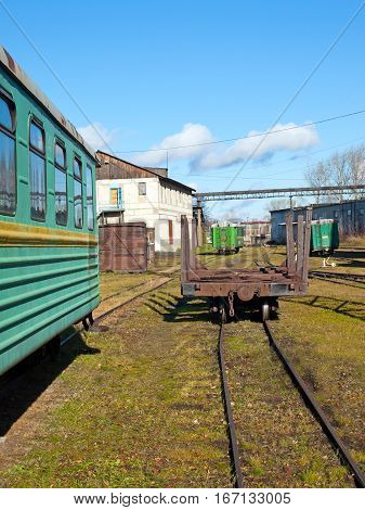 Narrow Gauge Railroad Depot Road . Russia