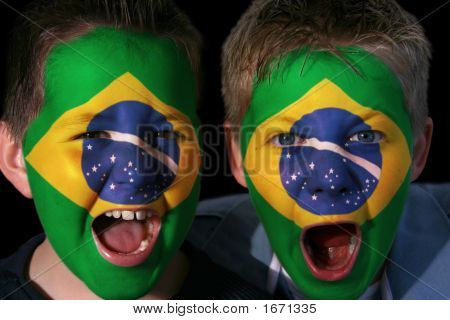 Young Brazilian Football Fans