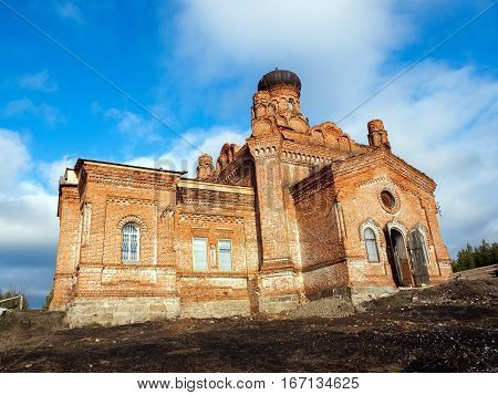 Stone orthodoxy christianity Temple St. Paraskevinsky. Russia