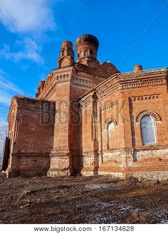 Stone christianity orthodoxy Temple St. Paraskevinsky. Russia