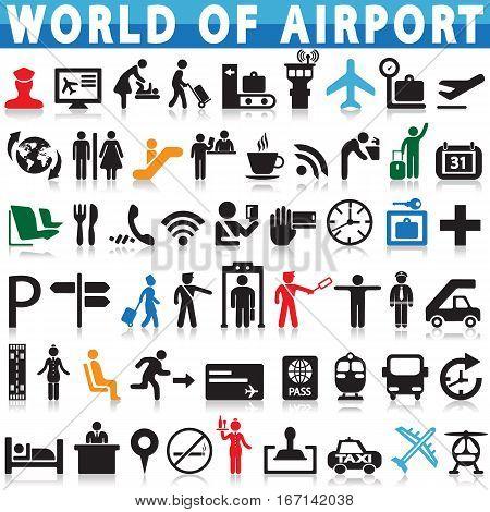 Airport & Aviation icon Vector illustration Graphic design