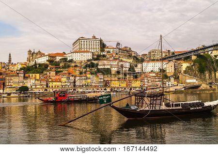 November,21,2014,porto: City view of Porto and the Douro river Portugal.