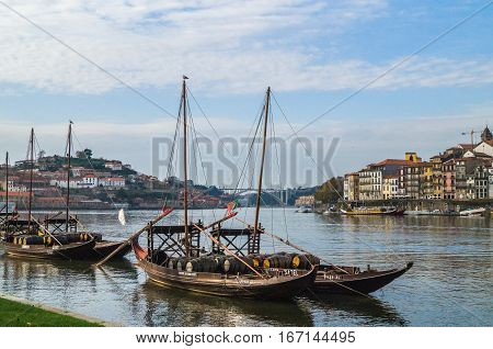 NOVEMBER,21, 2014 Porto: City view of Porto and the Douro river Porto Portugal.