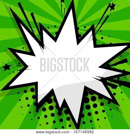 Clear green speech bubbles halftone. Blank balloon template. Dot background style pop art. Comic text talk dialog empty cloud. Creative idea conversation sketch drawing box