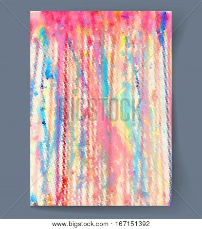 Abstract painting background with multicolor spots. Vector illustration