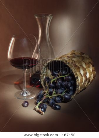 Still Life With Vine And Wine