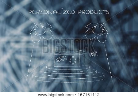 Product Customization Concept: Personalized Item Under Spotlights