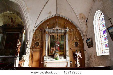 Ars en Re France - september 26 2016 : the picturesque Saint Etienne church