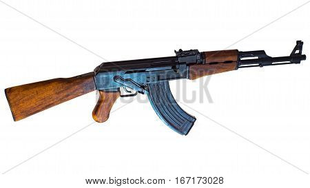 AK-47 the original design. Isolated with a white background