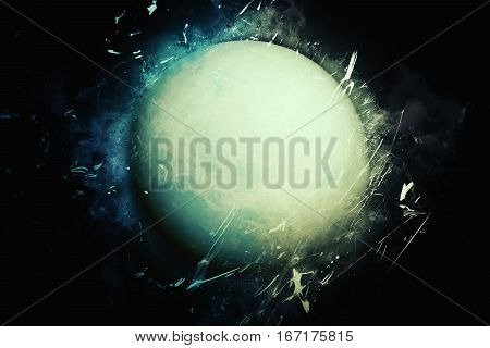 Planet Art - Uranus. Elements Of This Image Furnished By Nasa