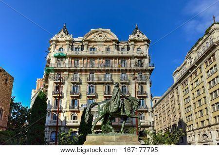 Plaza Ramon Berenguer  The Great - Barcelona