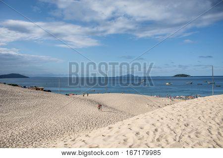 dunas y el mar, paraíso natural de brasil, isla de floripa