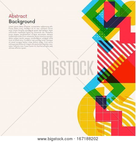 Modern style abstract geometic shapes background. Abstract geometric elements illustration