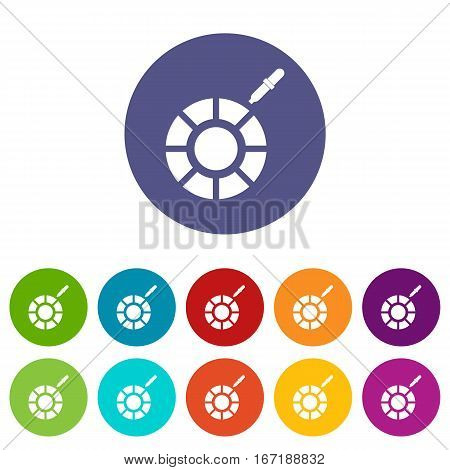 Color picker set icons in different colors isolated on white background