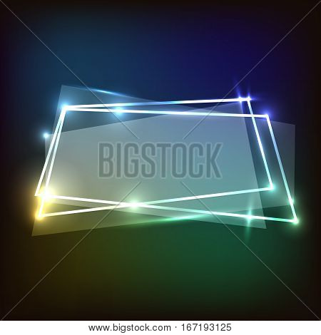 Abstract background with colorful neon banner, stock vector