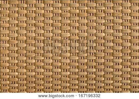 Beige wicker texture background, close up veiw