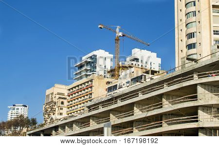 Construction Of Multi-storey Residential Building With A Crane