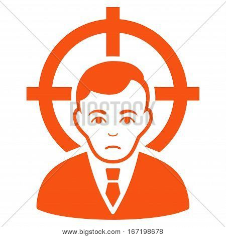 Victim Businessman vector icon. Flat orange symbol. Pictogram is isolated on a white background. Designed for web and software interfaces.