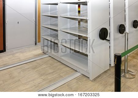 Mobile Racking Shelving For Space Saver Storage Solution