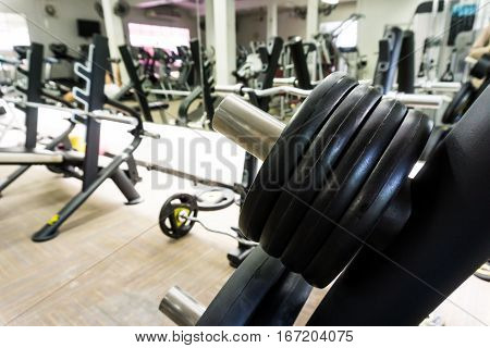 Fitness Modern Gym Interior With Equipment