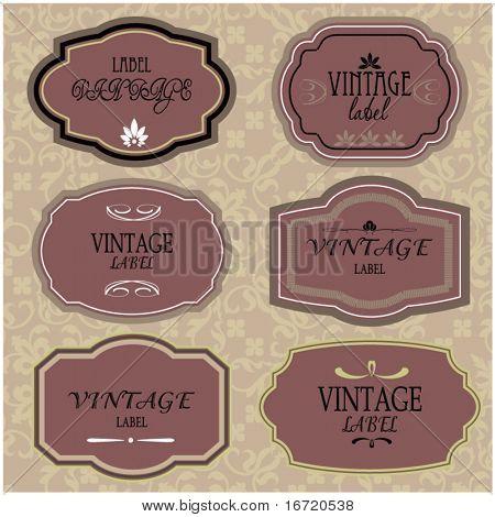 art set of vector vintage frame lable