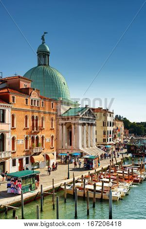 View Of The San Simeone Piccolo In Venice, Italy