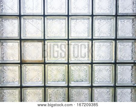 pattern of glass block wall, glass block wall background