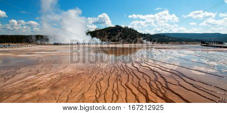 Steam Rising From The Excelsior Geyser In The Midway Geyser Basin In Yellowstone National Park In Wy