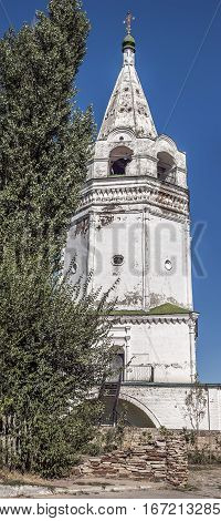 Russia Starocherkassk the first capital of the Don Cossacks . Branch Resurrection Cathedral built in 1706 with the participation of Tsar Peter the Great. The bell tower of the Cathedral .