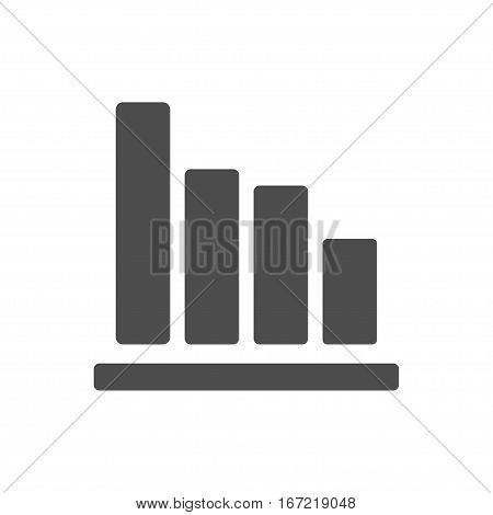increase statistics icon isolated on white background. Could be used for web, presentation, infographic design. Stock vector