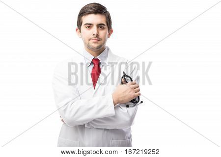 Handsome Young Doctor In A Studio