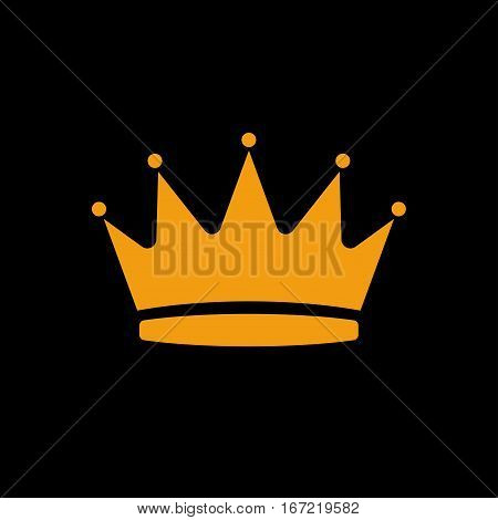 Vector shape of crown with gems icon for web design. Stock illustration