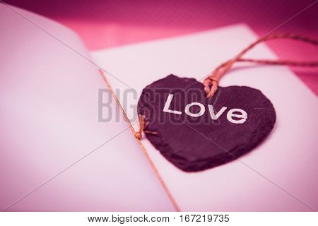 heart, shape, bookmark, tag, love, paper happiness Valentines Day