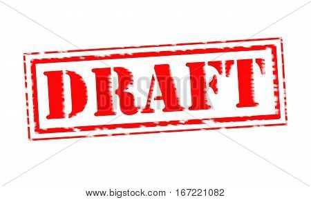 DRAFT Red Stamp Text on white backgroud