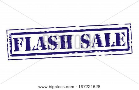 FLASH SALE blue Stamp Text on white backgroud