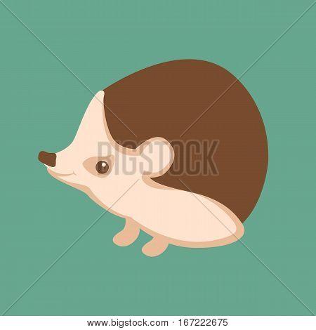 hedgehog vector illustration style Flat side profile