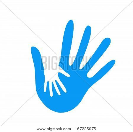 hand helping vector illustration on white background