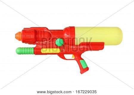 Water gun (with clipping path) isolated on white background