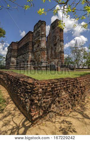 Lankatilaka temple in Polonnaruwa Sri-Lanka, Buddha Stupa