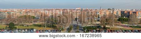 Panoramic view of the city of Leganes. Leganes is a famous satellite city in the southwest of Madrid