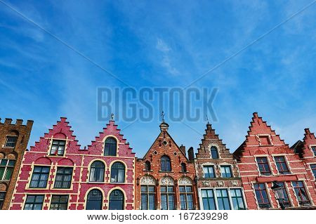 Grote Markt Square In Brugge At Morning, Belgium