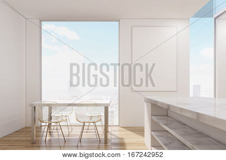 Marble Kitchen With Poster