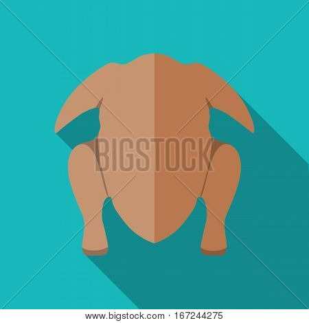 Carcass chicken or turkey icon vector illustration in flat style