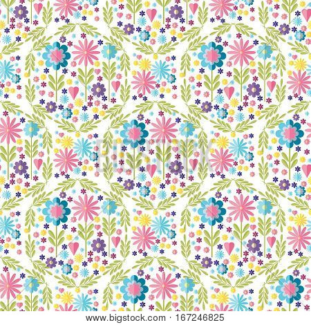 Cute flat background vector pattern with forget-me-not flowers. Seamless vector floral pattern for cushion pillow bandanna silk kerchief or shawl fabric print. Texture for clothes bedclothes