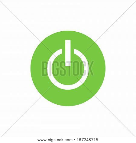 Power on/off button icon vector design isolated on white background