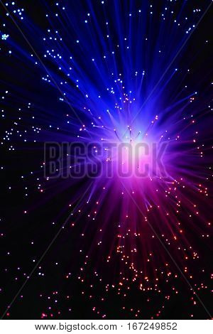 Colorful Abstract Background. Lamp With Optical Fibers.