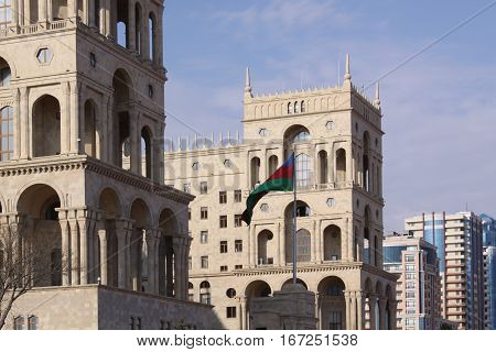 The Government house of Azerbaijan in Baku, Azerbaijan