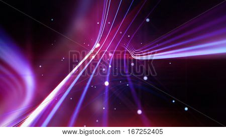 Streaking shiny purple lines as abstract background for business science technology or entertainment theme