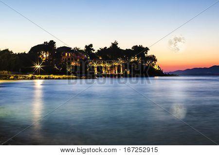 Night Tropical Landscape